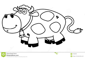 a smiling cow coloring stock illustration image 57662656