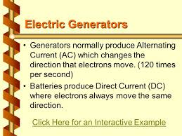 http www current electricity magnetism an electric current in a wire creates a