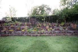 sloping garden design in craven arms hornby garden designs how