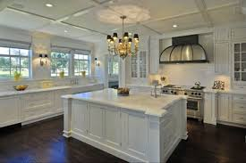 kitchens with different colored cabinets different colored kitchen cabinets backsplash with dark granite