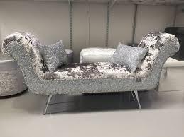 Velvet Chaise Lounge Stunning Mercury Lustro Crushed Velvet Silver Glitter
