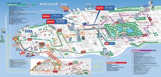 Atlantic City Map Map Of New York City Streets And Attractions Open Deck Hop