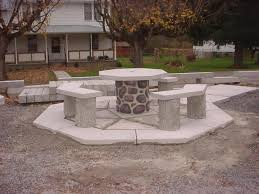 Concrete Patio Table Set Modern And Concrete Outdoor Furniture All Home Decorations