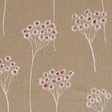 Natural Linen Curtain Fabric Mauve Cherry Blossom Natural Linen Curtain Fabric U003cbr U003ewe
