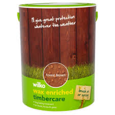 Wilko Garden Furniture Wax Enriched Timbercare Forest Brown 5ltr Wax Garden Furniture