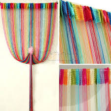 Multi Colored Curtains Drapes Multi Color Door Window String Curtain Fringe Room Divider