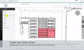 designing a walk in closet or reach in wardrobe in online 3d