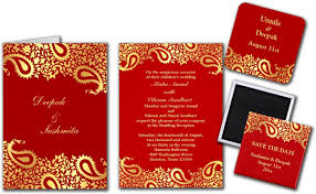 paisleys indian wedding invitation greeting card save