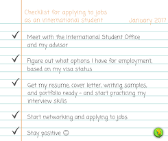 How To Job Resume by How To Get A Job As An International Student U2013 Campussims