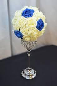 gold double trumpet vase wedding centerpiece by kimeekouture