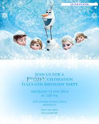 printable frozen images printable frozen birthday party personalised invitation 5x7 card