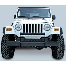rugged ridge 11511 02 brush guard gloss black 97 06 jeep wrangler