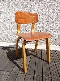 chaise vintage enfant ensemble bureau et deux chaises vintage enfant années 50