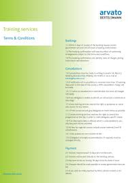 Terms And Conditions 5 Training Services Terms U0026 Conditions