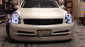 infinity car back custom switch back led infiniti g35 4door youtube