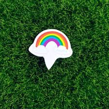 100pcs multicolor rainbow cupcake topper birthday party supplies