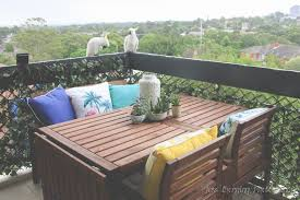 Ikea Patio Cushions by Small Balcony Ideas How We Created An Oasis What We Did