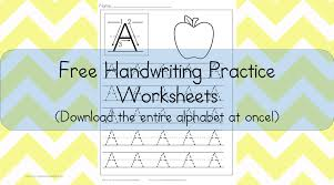 handwriting worksheets free printable free download