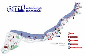 Marathon Route Map by Edinburgh Marathon Race Report U2013 Amy Alward