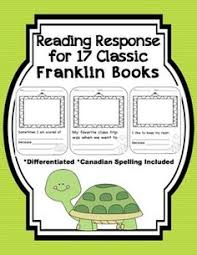franklin the turtle reading response worksheets for 17 classic
