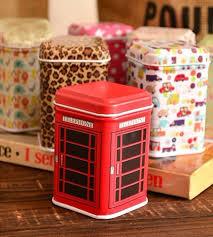 12 pcs lot Tin storage Box organizer tardis decorative tins tea