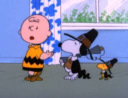 snoopy and the peanuts celebrate a brown thanksgiving