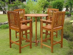 Patio Tall Table And Chairs Furniture Patio Dining Sets Outdoor Wood Dining Table Wood Patio