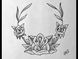 how to draw rose flowers necklace image yzarts yzarts youtube