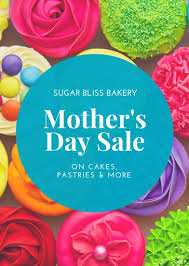 s day sale blue cupcakes s day sale flyer templates by canva