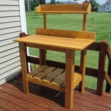 Wooden Potting Benches Infinitecedar Premium Quality Potting Table U0026 Reviews Wayfair
