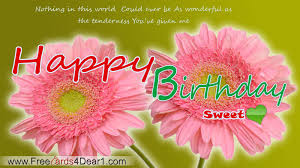 birthday greeting ecard for sweet greeting cards