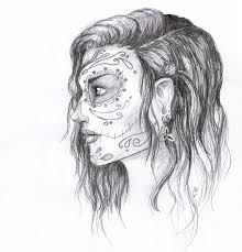 sugar skull sketch by jackiehj on deviantart