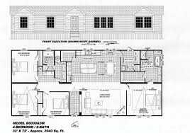Floor Plans For Large Homes by 4 Bedroom Floor Plan B 6030 Hawks Homes Manufactured