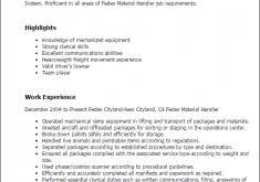 Warehouse Material Handler Resume Sumptuous Design Material Handler Resume 6 Professional Fedex