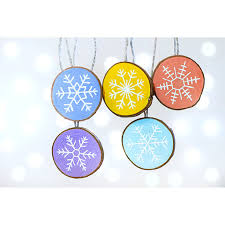 snowflake ornaments pastel ornaments ornaments wood