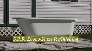 How To Refinish A Clawfoot Bathtub Spr Antique Claw Foot Bathtub Exterior Refinish Interior No