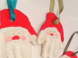 salt dough handprint santa ornament