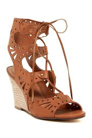 mari a crete lace up wedge sandal nordstrom rack