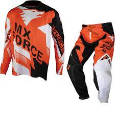 Mx Force Ac X Maxix Motocross Jersey U0026 Pants Orange Kit New