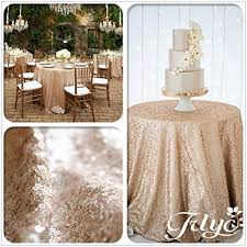 tablecloth for 72 round table amazon com trlyc new listing chagne round sparkly sequin