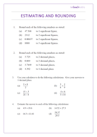 Calculations Significant Figures Worksheet Answers Significant Figures Rounding And Estimating Significant