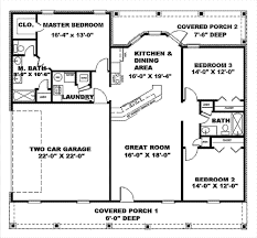 1500 sq ft home simple house plans with great room 1500 sq ft house plans