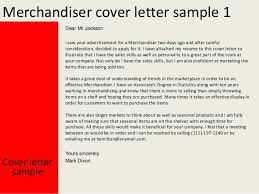 merchandiser cover letter sample 9 create cover letter uxhandy com