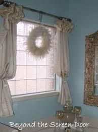 Bathroom Window Valance by Idea For Curtains On Our Bathroom Window Above The Tub Like It A