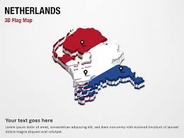 netherlands map flag 3d section map with netherlands flag powerpoint map slides 3d