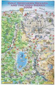 Virginia City Nevada Map by Lake Tahoe Map Reno And Lake Tahoe Golfing 2006 Cartoon Drawn