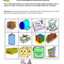 all worksheets solid and plane shapes worksheets printable