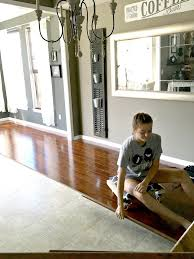 Removing Old Laminate Flooring Pergo Flooring Dining Room Reveal Snazzy Little Things