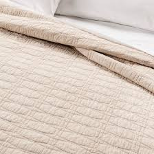 target threshold vintage washed solid tan relaxed wash diamond stitch quilt king threshold target
