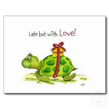 late but with love turtle belated birthday wishes cartoons and